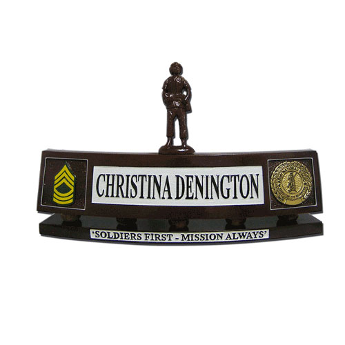 Army National Guard Desk Name Plate