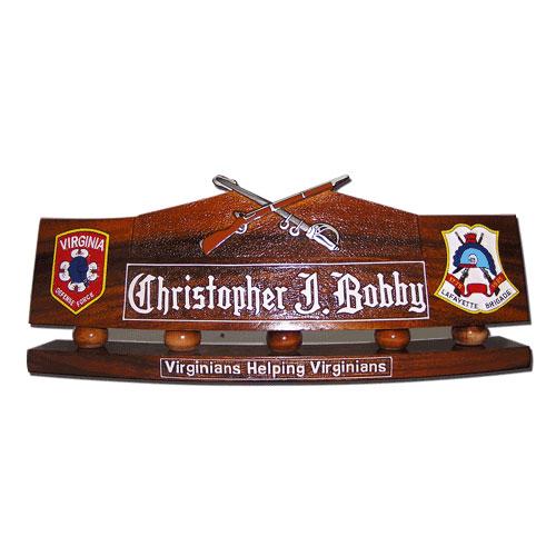 Army Rifle & Sword Desk Name Plate