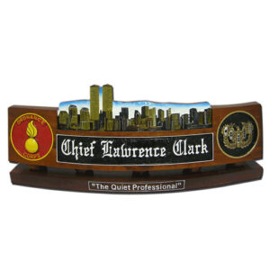Army Twin Tower Desk Name Plate