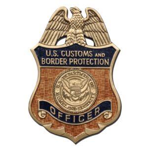 U.S. Customs & Border Protection Officer Badge Plaque