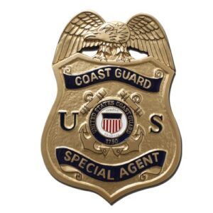 U.S. Coast Guard Special Agent Badge Plaque