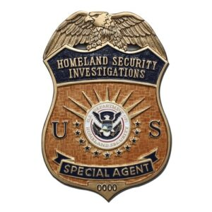 U.S. HLS Special Agent Badge Plaque