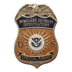 HSI Special Agent Badge Plaque