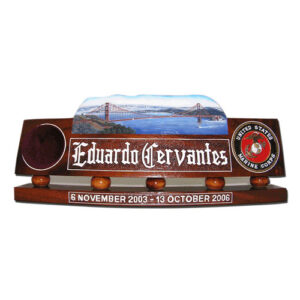 USMC Golden Gate Bridge Desk Name Plate