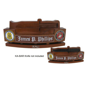 USMC KA-BAR Knife Holder Desk Name Plate