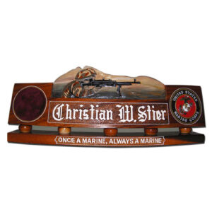 USMC Soldiers in Action Desk Name Plate