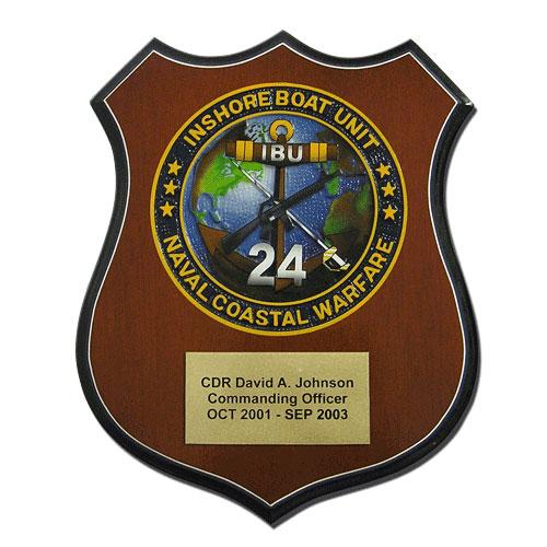 Navy Coastal Warfare Seal Award Plaque