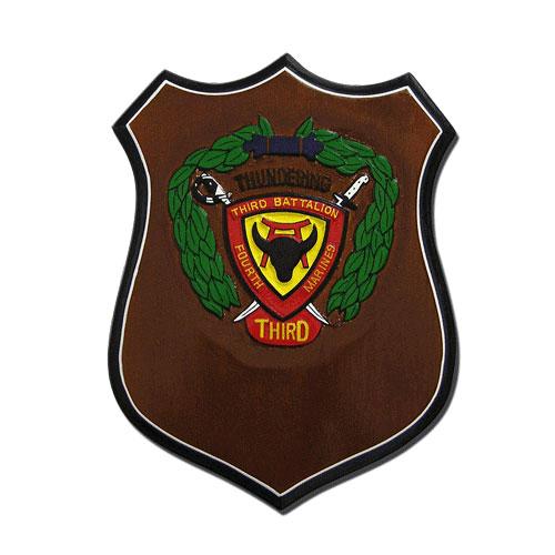 USMC 3rd Battalion Seal Shield Shaped Award Plaque