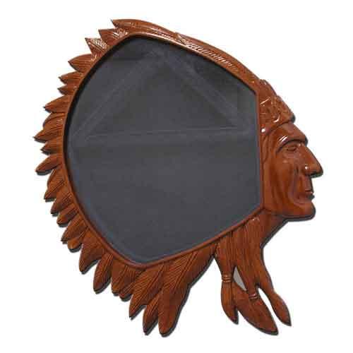 USN CPO Indian Head Shadow Box