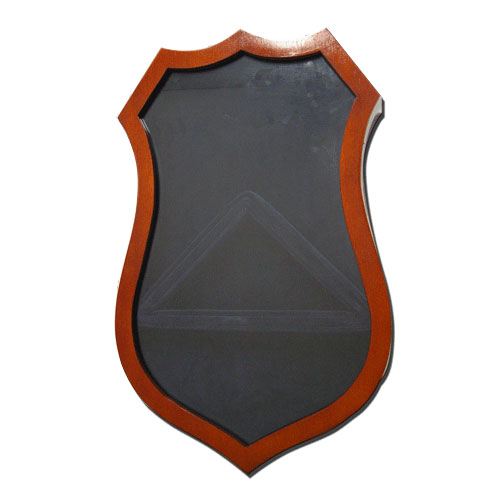 Police Badge Shaped Shadow Box