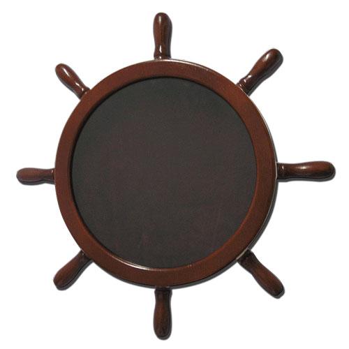 Navy Ships Wheel Shadow Box