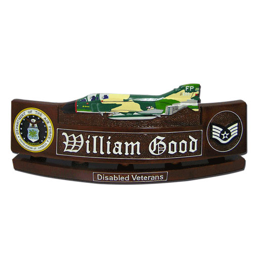 USAF F-4D Phantom Desk Name Plate