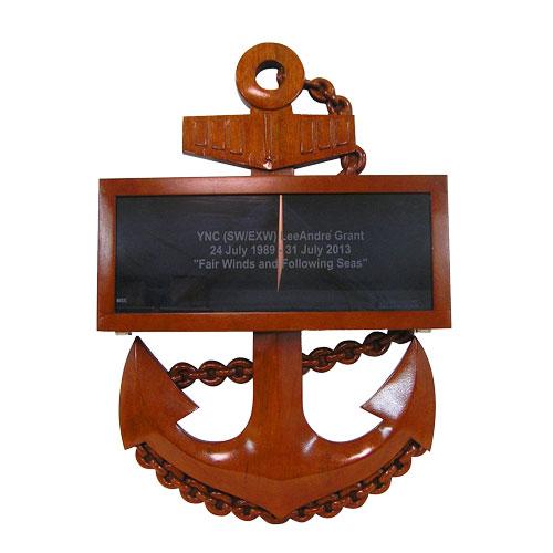 USN CPO Anchor Shadow Box