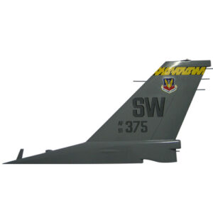 USAF F16 - AF375 SW Tail Flash Plaque