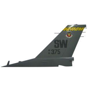 USAF F16 - AF375 SW Tail Flash Plaque