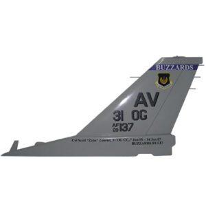 F16 AV 31OG Tail Flash