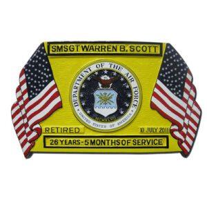 Yellow Retirement Award Plaque