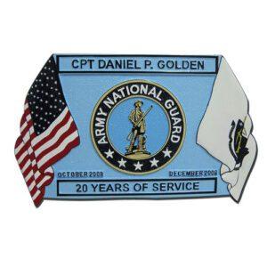 National Guard Infantry Blue Retirement Plaque