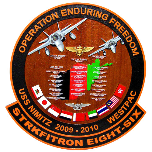 Strkfitron Eight Six Deployment Plaque