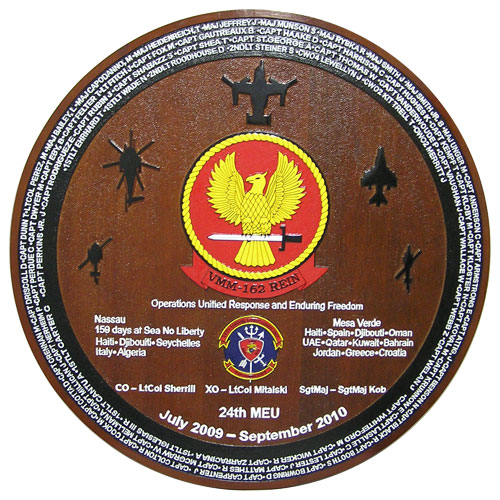 VMM 162 Rein Deployment Plaque
