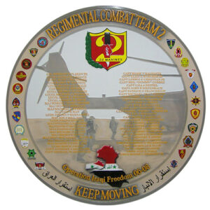 24th Marines Regimental Combat Team Deployment Plaque