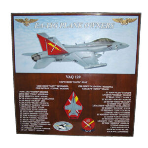 VAQ 129 Deployment Plaque