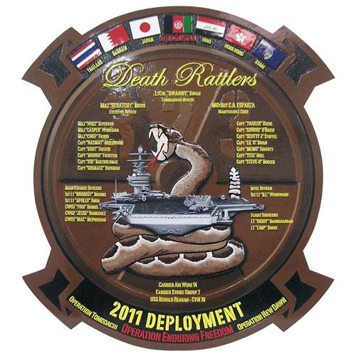 USMC Death Rattlers Deployment Plaque 2011