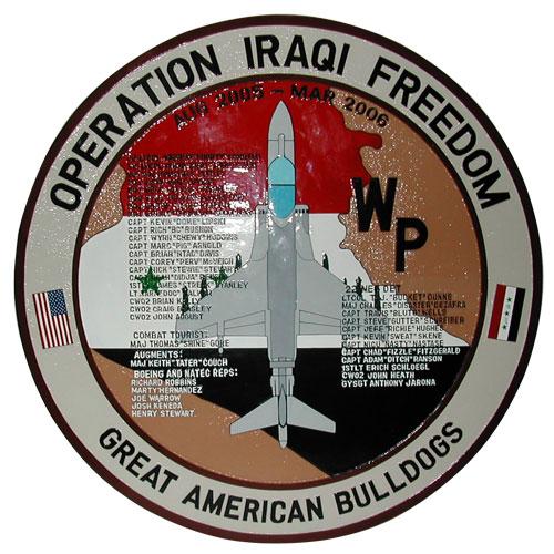 Operation Iraqi Freedom Deployment Plaque 2006