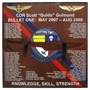 Fighting Twos Bounty Hunters Deployment Plaque 2007 - 2008