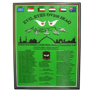 Evil Eyes Over Iraq Military Deployment Plaque