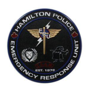 Hamilton Police Department ERU Plaque