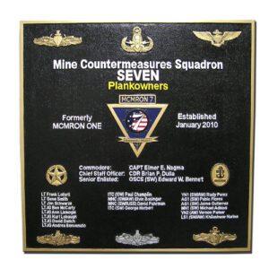MCMRON7 Mine Countermeasures SQ-7 Military Deployment Plaque