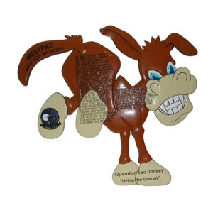 USN VAW-117 Donkey Shaped Military Deployment Plaque