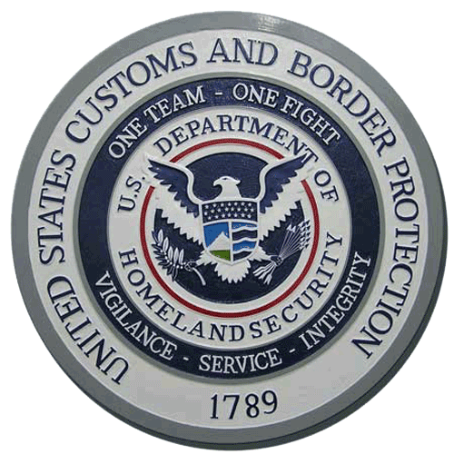 CBP Seal Plaque