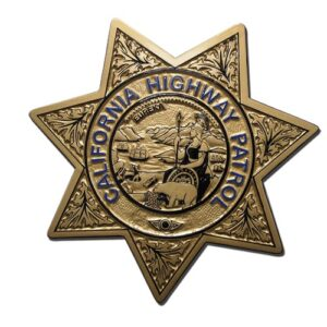 California Highway Patrol Officer Badge Plaque