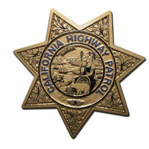 California Highway Patrol Officer Badge Plaque