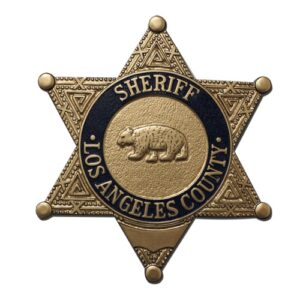 Los Angeles County Sheriff's Officer Badge Plaque