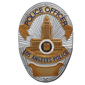 Los Angeles Police Officer Badge Plaque
