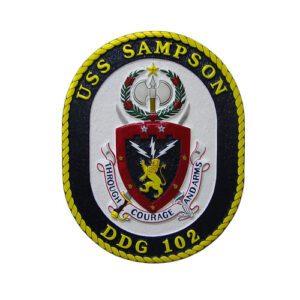 USN USS Sampson DDG-102 Emblem