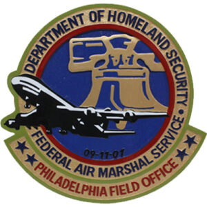 Federal Air Marshall Service Philadelphia Plaque