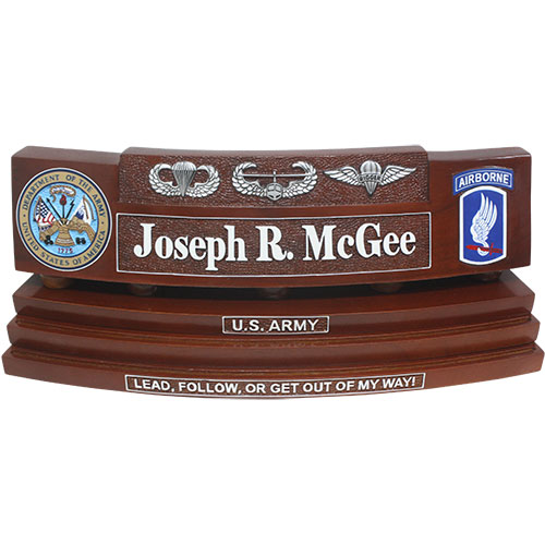 Army Custom Coin Holder Desk Name Plate
