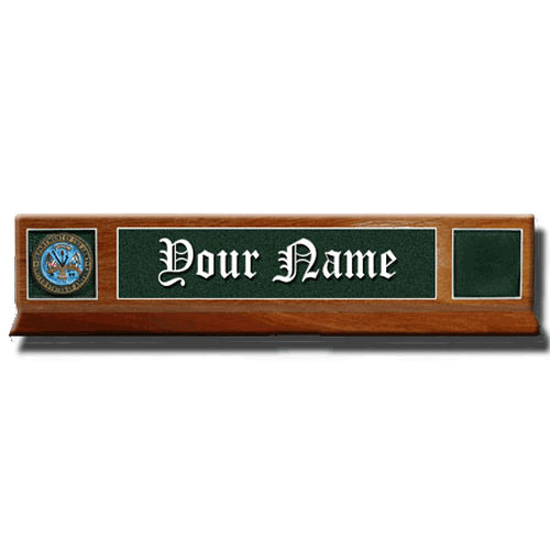 Philippine Mahogany Desk Name Plate