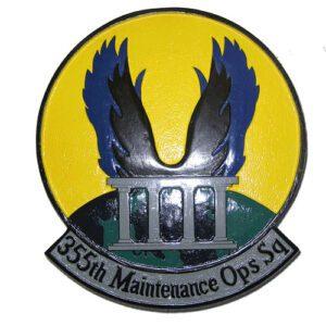 USAF 355th Maintenance Operations Squadron Emblem
