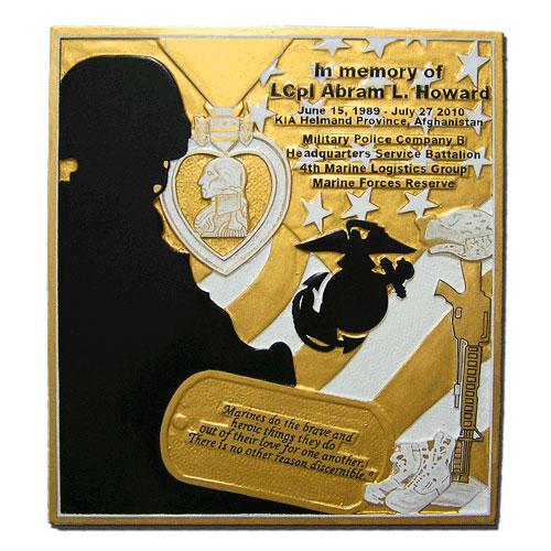 4th Marine Logistics Group-Marine Forces Reserve Plaque