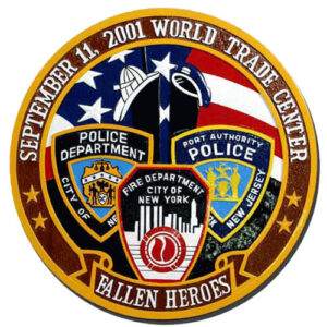NYPD & NYFD Emblems Plaque