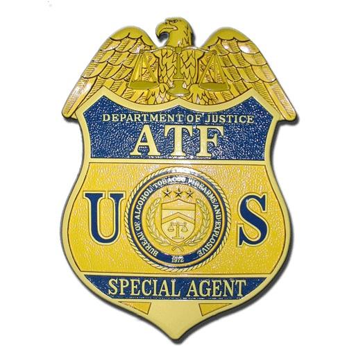 ATF Agent Badge Plaque
