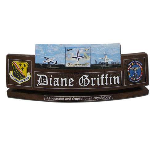 USAF Aerospace & Physiology Desk Name Plate
