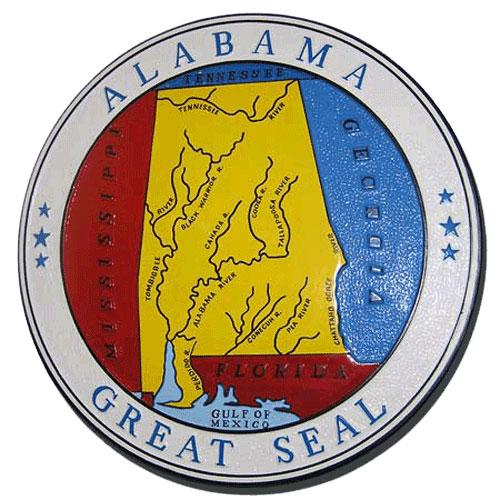Alabama State Seal Plaque