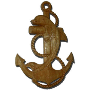 Dolphin and Anchor Wooden Plaque