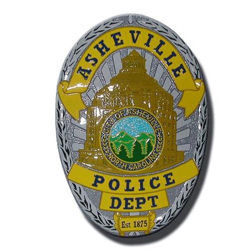 Asheville North Carolina Police Badge Plaque